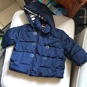 Gap Sailor Puff Peacoat with detachable hood